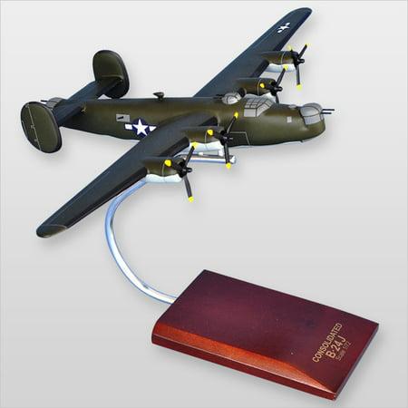 B-24J Liberator (Olive) Wood Model Plane (B 24j)