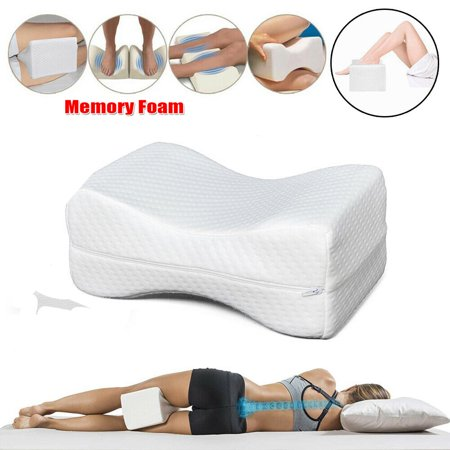 Top Knobs Memory Foam Wedge Contour Orthopedic Knee Pillow for Sciatica Nerve Relief, Back, Leg, Hip, and Joint Pain, Leg Support, Spine Alignment, Pregnancy (Lower Back Pain Between Hip And Spine)