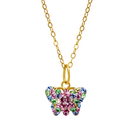 2fd71e9900a70 Luminesse - Butterfly Pendant Necklace with Swarovski Crystals in ...