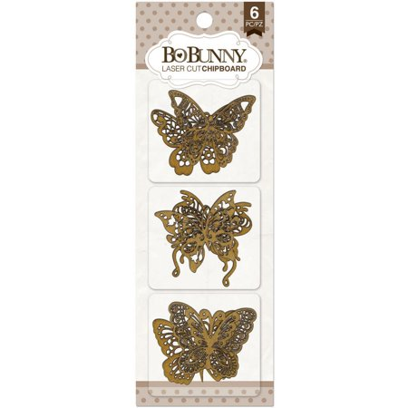 "Butterfly Laser-Cut Chipboard, 3.5 x 9"", BoBunny Laser-Cut Chipboard 3.5X9 By Bo Bunny"