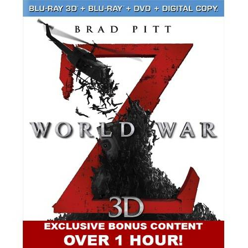 World War Z (3D Blu-ray + Blu-ray + DVD + Digital Copy) (With INSTAWATCH)