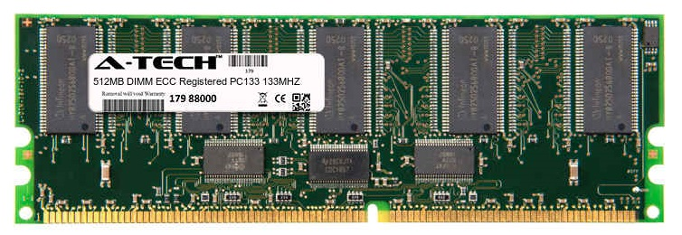 512MB Module PC133 133MHz ECC Registered SD DIMM Server 168-pin Memory Ram