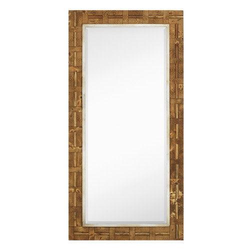 Majestic Mirror Mixed Media Rectangle Bevel Floor Mirror