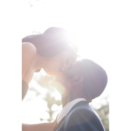 - LAMINATED POSTER Love Light Woman Flare Intimate Kiss People Man Poster Print 24 x 36