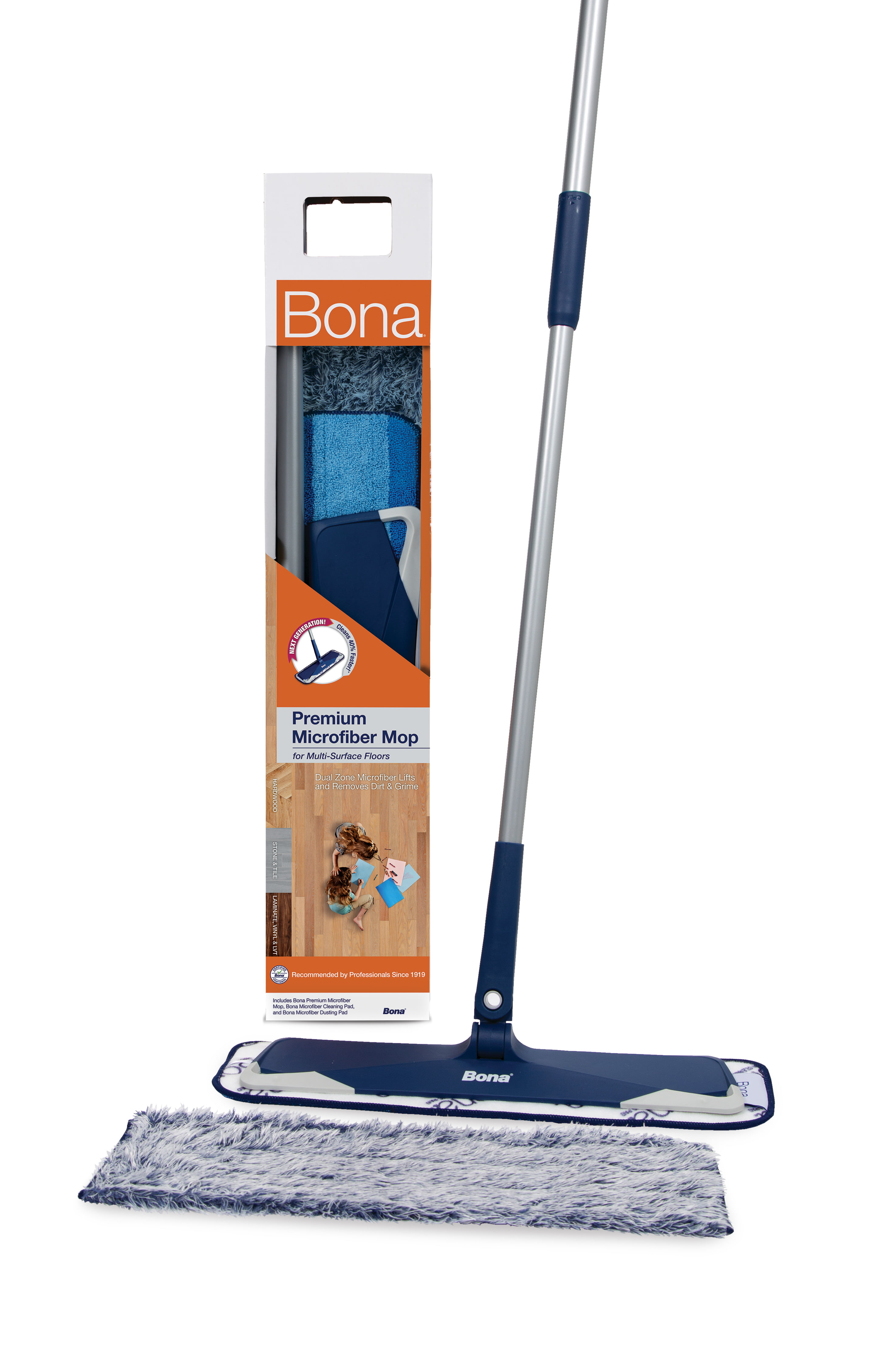 Bona Microfibre Cleaning Pad for Mop Floor Cleaning Washable//Reusable Wood//Tile