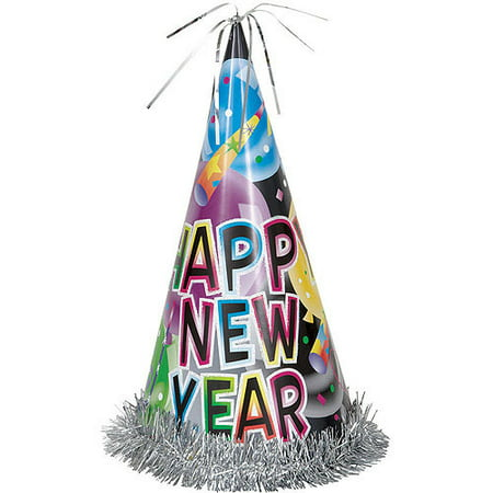 "13"" Happy New Year Balloons Hat - Walmart.com"