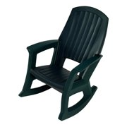 Semco Plastics SEMS Recycled Plastic Resin Outdoor Patio Rocking Chair, Green