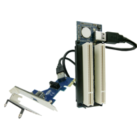 PCI-E Express X1 to Dual PCI Riser Card with USB 3.0 Port Mining Cable