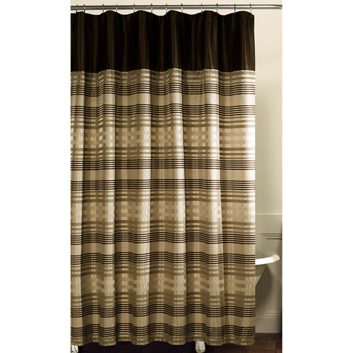 Blake Fabric Shower Curtain, Chocolate