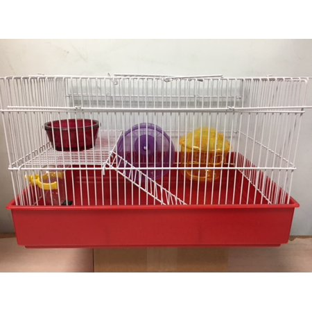 H820 3 Level Hamster Cage, Blue ()