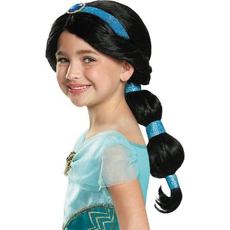 Morris Costumes Girls Aladdin Princess Jasmine Long Black Hair Wig, Style DG65377](Aladdin Wig)