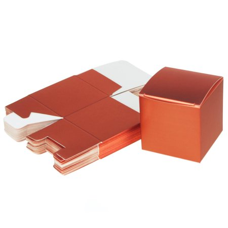 - Cube Paper Gift Boxes, 3-Inch, 24-Piece, Coral