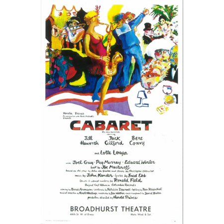 Cabaret  1966  14X22 Broadway Poster