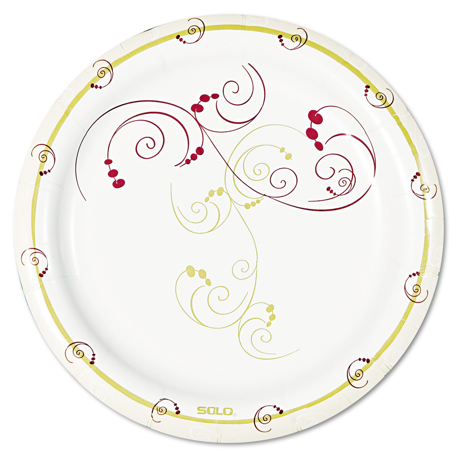 "Solo Table Ware - 6"" Diameter Plate - Paper Plate - Symphony - Tan, Natural - 1000 Piece(s) / Carton"