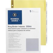 Business Source Insertable 5-Tab Ring Binder Indexes, 5 / Set (Quantity)