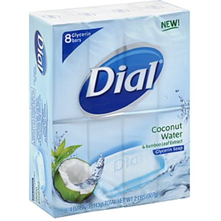 Dial Glycerin Soap Bars Coconut Water & Bamboo Leaf Extract 8 ea