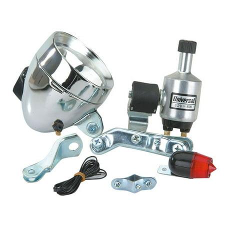 Skull Chopper Bike (Generator Bullet Light Set. Bike light, bicycle light, lowrider , beach cruiser, chopper, limo, stretch bike, bmx,)
