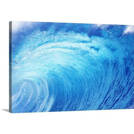 North Shore Monogram - Great BIG Canvas | Vince Cavataio Premium Thick-Wrap Canvas entitled Hawaii, Oahu, North Shore, Curling Wave At World Famous Pipeline