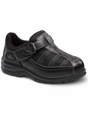 Dr. Comfort Lucie-X Women's Casual Shoe: 4 Medium (M/D) Black Velcro