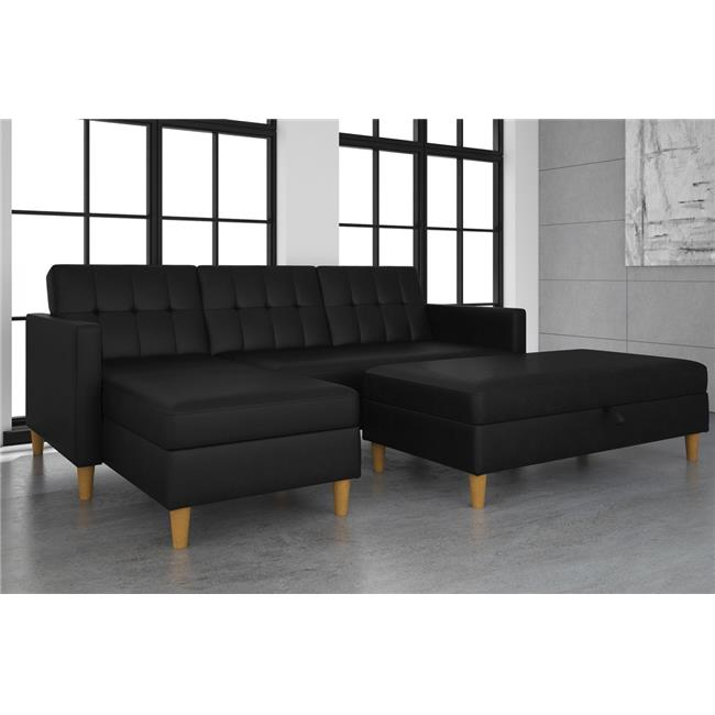 DHP Hartford Storage Sectional Futon and Hartford Storage Ottoman, Multiple Colors