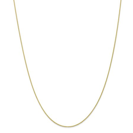 10K Yellow Gold 0.95 MM Parisian Wheat Link Chain Necklace, 16""