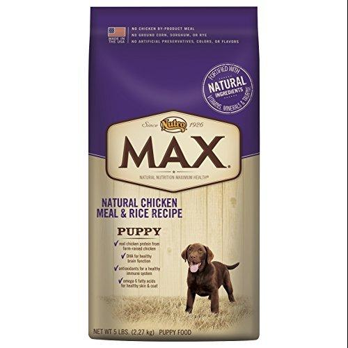 NUTRO MAX Puppy Food Natural Chicken Meal and Rice Recipe 5 Pounds by Nutro
