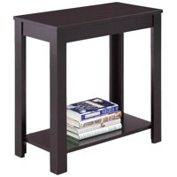 Zimtown Modern Sofa Side Table Coffee Wooden End Shelf Living Room Furniture Brown