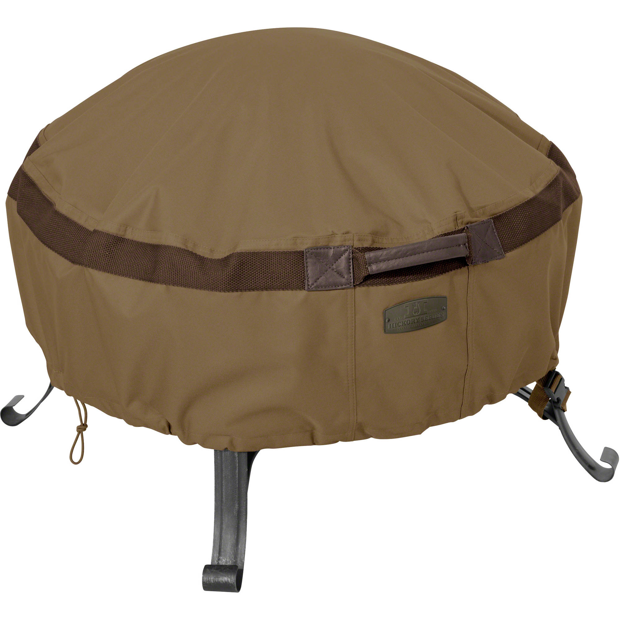 Classic Accessories Hickory Heavy-Duty Full Coverage Fire Pit Patio Storage Cover, Round