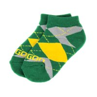 Oregon Ducks Youth Argyle No Show Sock