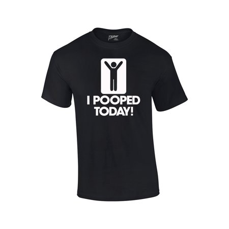 Men's/Unisex Funny I Pooped Today! Short Sleeve T-shirt - Maroon 5 Halloween