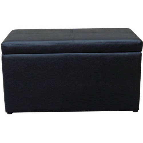 30 Faux Leather Hinged Storage Ottoman Multiple Colors Walmartcom
