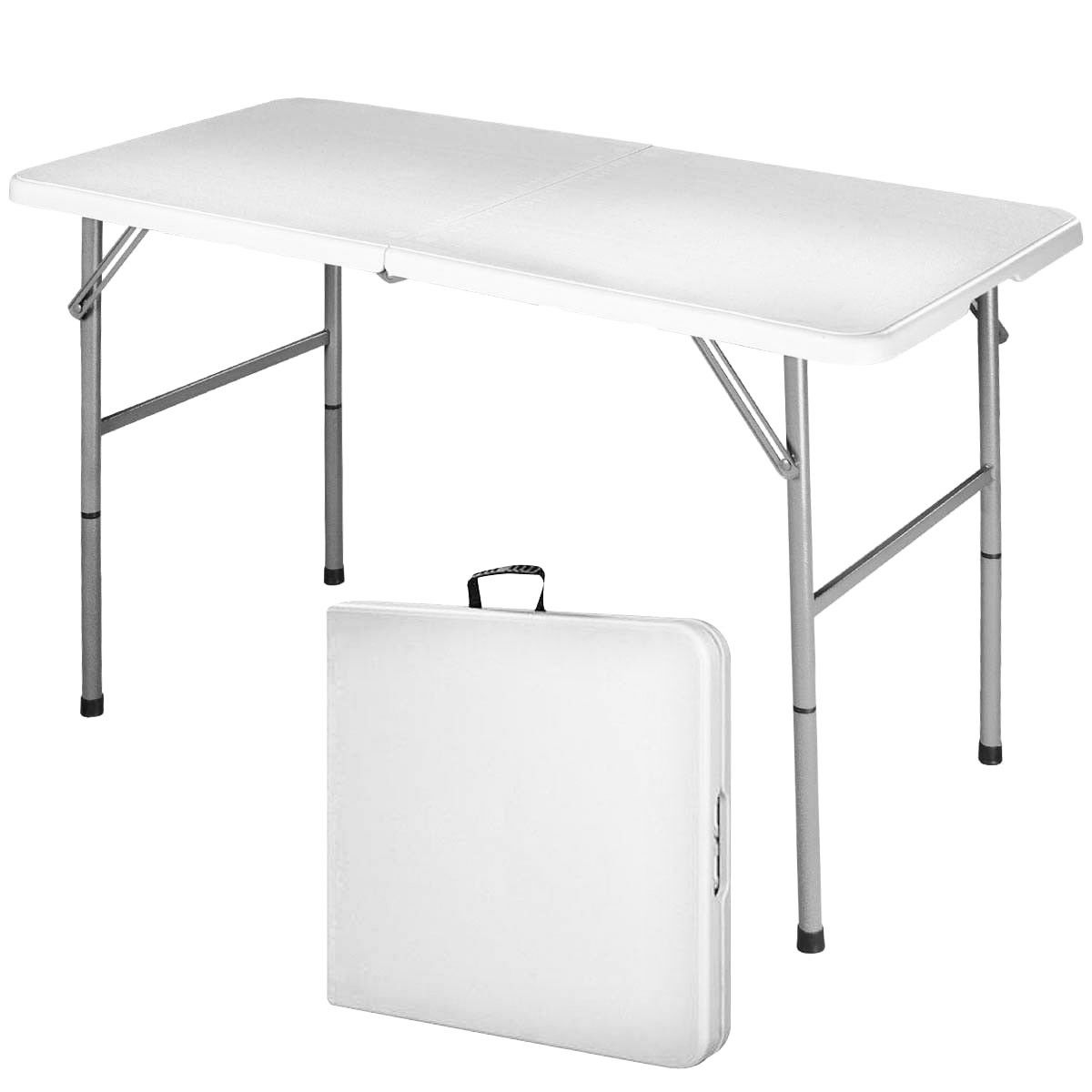 Costway 4' Folding Table Portable Indoor Outdoor Picnic Party Dining Camp Tables Utility by Costway