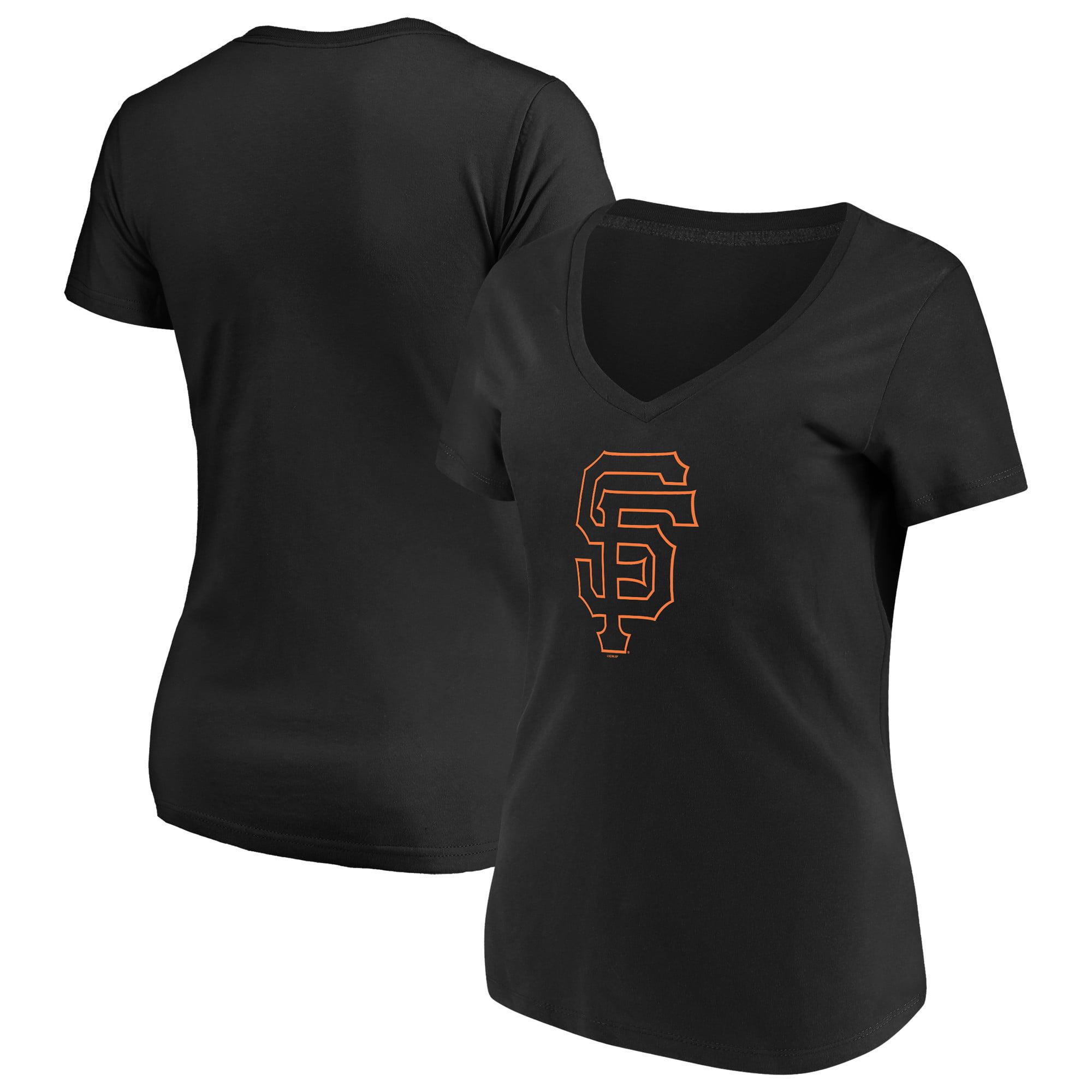 Women's Majestic Black San Francisco Giants Top Ranking V-Neck T-Shirt