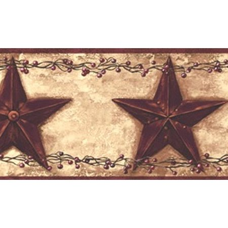 877300 Barn Star Berry Wallpaper Border PC3918bd