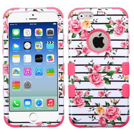 Mystcase™ For Apple iPhone 6 / 6s IMPACT TUFF HYBRID Case Skin Phone Covers +Screen Guard ()