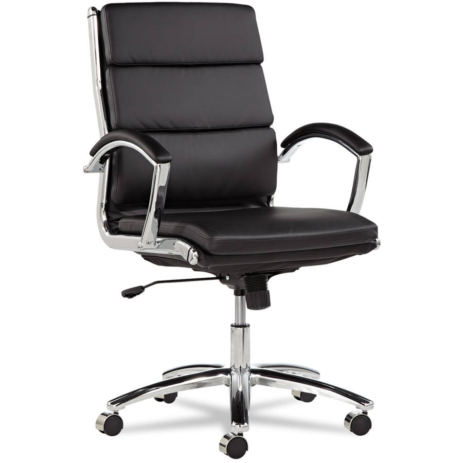 Alera Neratoli Series Mid-Back Swivel/Tilt Chair, Chrome Frame