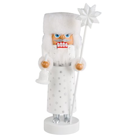 KWO Frosty White Snowflake Santa LE German Wood Christmas Nutcracker Germany - Kwo German Nutcracker