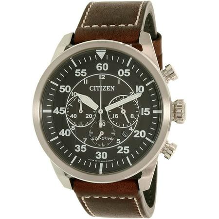 Citizen Men's Eco-Drive Aviator Chronograph Watch CA4210-16E Aviator Pilot Chronograph Watch