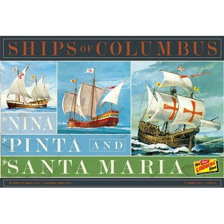 1/144 Ships of Columbus: Nina, Pinta & Santa Maria Sailing Ships (3