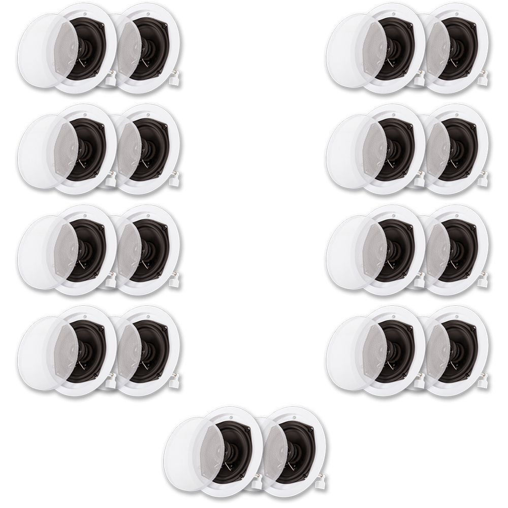 Acoustic Audio R191 In Ceiling / In Wall Speaker 9 Pair Pack 2 Way Home Theater 3600 Watt R191-9PR