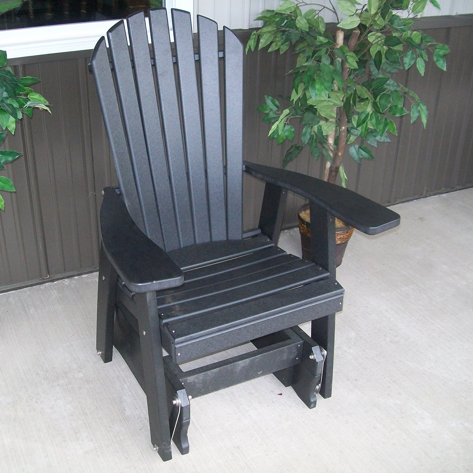 A & L Furniture Adirondack Poly Recycled Plastic 2 ft. Glider Chair