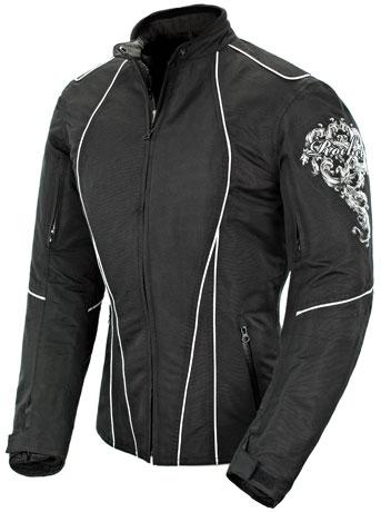 Joe Rocket Alter Ego 3.0 Women's Jacket Black/White XS  JOEROCKET1061-6001