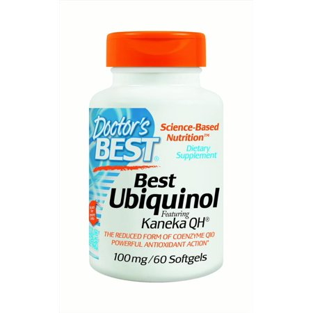 Doctor's Best Ubiquinol with Kaneka QH 100 mg Softgels, 60