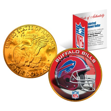 - BUFFALO BILLS NFL 24K Gold Plated IKE Dollar US Coin *OFFICIALLY LICENSED*