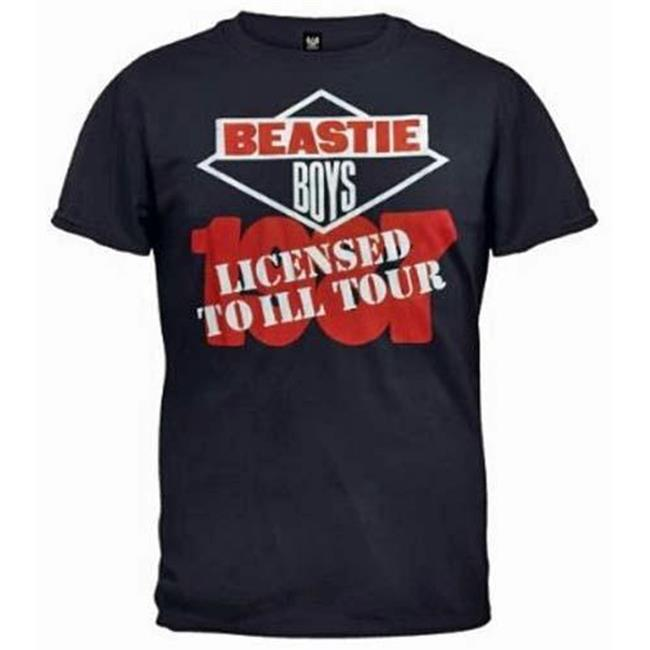 FEA FEA-BY191-M Beasitie Boys Licensed to Ill T-Shirt - Navy - Medium
