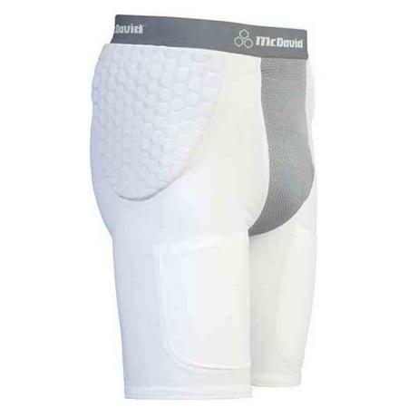 McDavid  Classic 7550 White/Grey X-Large Hexpad Hexmesh Football Girdle