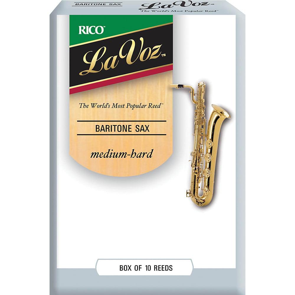 La Voz Baritone Saxophone Reeds Medium Hard Box of 10