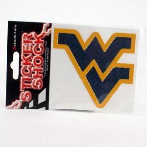 West Virginia Mountaineers High Performance Decal - Blue / Yellow Outline
