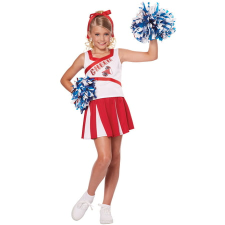 High School Cheerleader Child - Patriot Cheerleaders Halloween Costumes