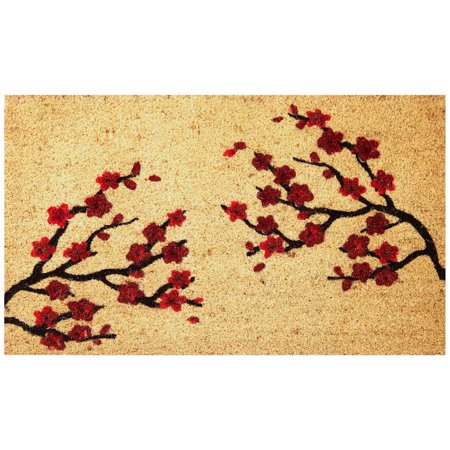Envelor Home And Garden Cherry Blossom Coir Doormat Coco Welcome Mat